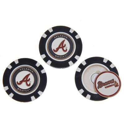 """""""Atlanta Braves 3-Pack Poker Chip Golf Ball Markers"""""""