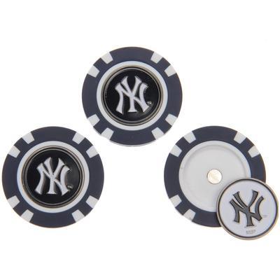 """New York Yankees 3-Pack Poker Chip Golf Ball Markers"""