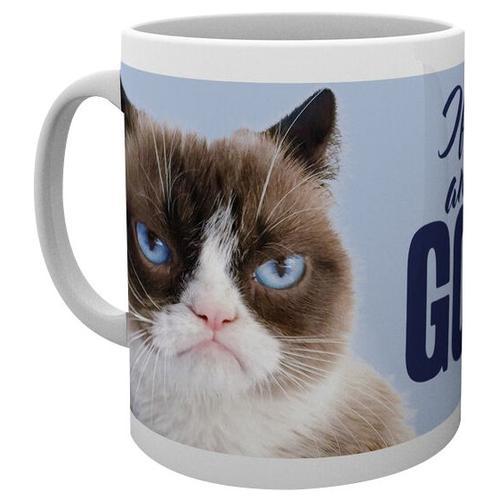 Grumpy Cat Go Away Tasse - weiß