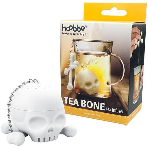 Totenkopf Tee Ei - weiß