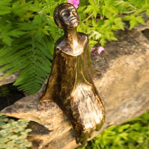 Bronze-Figur Sternbeobachterin Stella