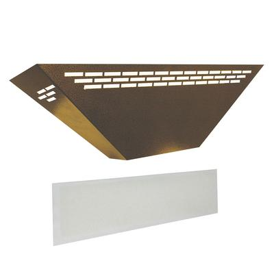 Curtron BL100-GD-COMBO Silent Fly Trap w/ Replacement Glue Boards - 15 Watt UV Light, Covers 900 Sq. Ft., Gold