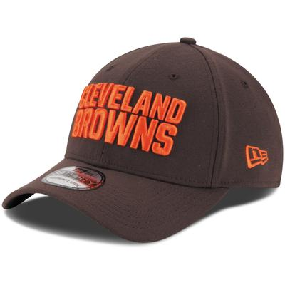 Youth Cleveland Browns New Era Brown Team Classic 39THIRTY Flex Hat