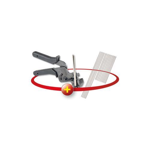 Rothewald Edelstahlkabelbinderzange + Kabelbinder, 15-teilig