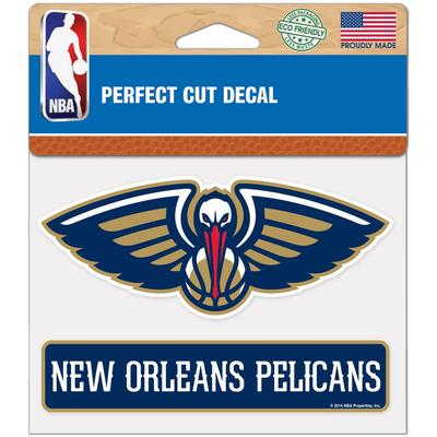 """""""WinCraft New Orleans Pelicans 4"""""""" x 5"""""""" Perfect Cut Decal"""""""