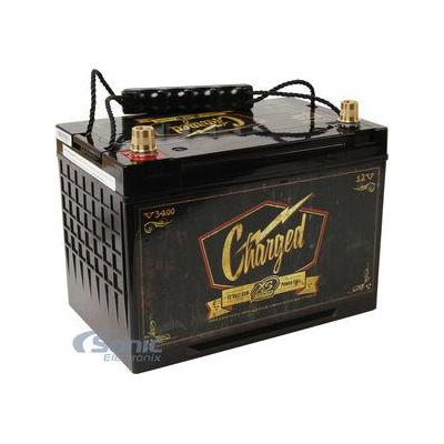 Power XS Power V3400 12V BCI Group 34 AGM Starting Battery (Max Amps 3,300A CA: 1,000A)