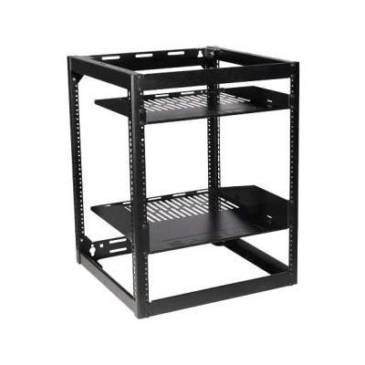 "Sanus Systems CFR1615 26"" Tall AV Rack 15U Stackable Skeleton Rack (15U Wide - Black - 600 lb x Maxi"