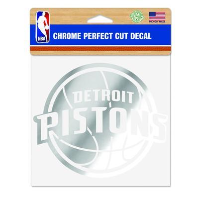 """WinCraft Detroit Pistons 6"""" x Chrome Decal"""
