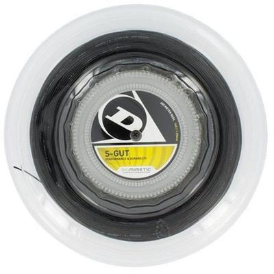 Dunlop SGut Biomimetic 16G Black Reel Tennis String