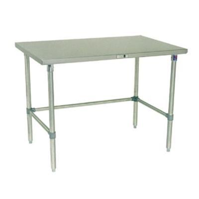 John Boos ST4-3048SBK 14-Gauge Stainless Steel-Top Work Table