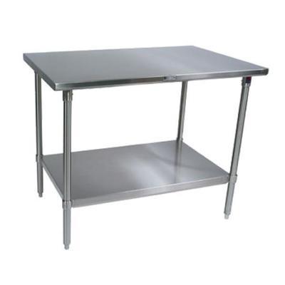John Boos ST4-3648SSK 14-Gauge Stainless Steel-Top Work Table