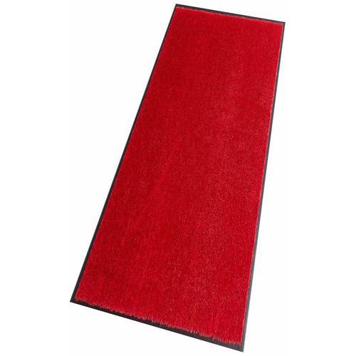 HANSE Home Läufer Deko Soft, rechteckig, 7 mm Höhe, Schmutzfangläufer, Schmutzfangteppich, Schmutzmatte, waschbar rot Teppichläufer Teppiche und Diele Flur