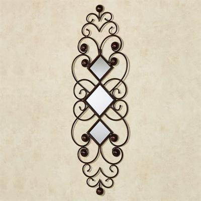 Falena Mirrored Wall Accent Brown , Brown