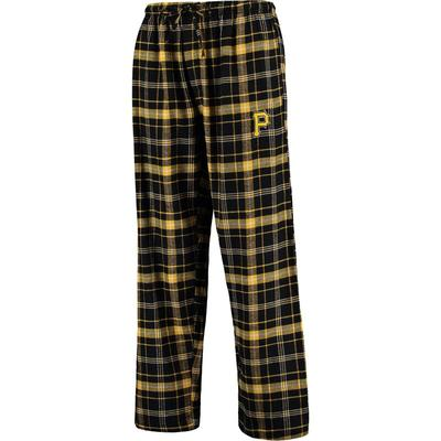 """Concepts Sport Pittsburgh Pirates Black/Gold Ultimate Plaid Flannel Pants"""