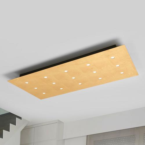 Mit 15 LEDs - dimmbare Deckenleuchte Juri in Gold