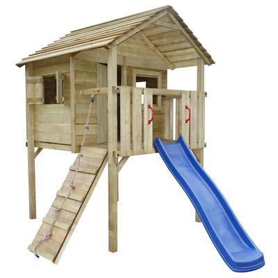 vidaXL Aire de jeu avec toboggan et échelle 360 x 255 x 295 cm Bois
