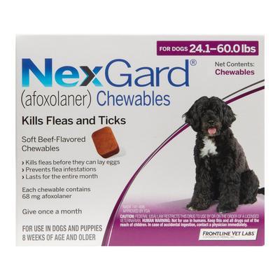 Nexgard For Large Dogs 24.1-60 Lbs (Purple) 68mg 6 Chews