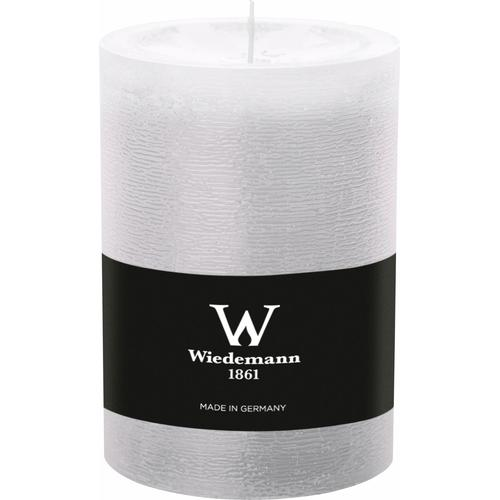 Wiedemann Stumpenkerze, mit Banderole, ca. Ø 9,8 cm weiß Kerzen Laternen Wohnaccessoires Stumpenkerze