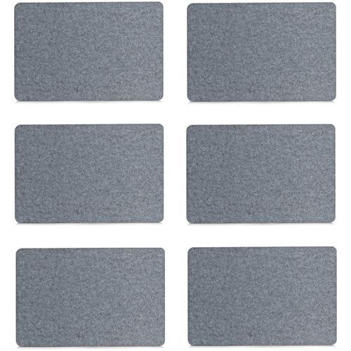 Zeller Present Platzset, (Set, 6 St.) grau Platzset Platzsets Tischwäsche