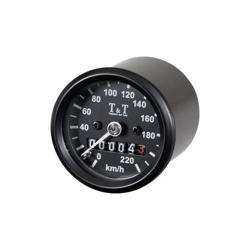 T&T mechanischer Tachometer -220 KM/H, k-Wert 1,4, M12