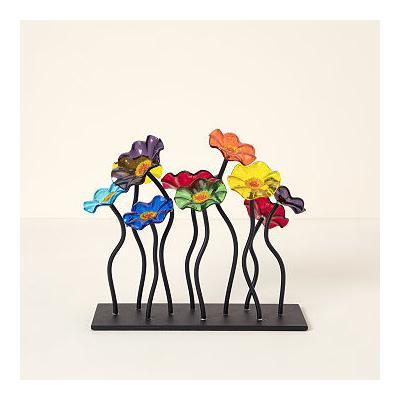 Glass Flower Garden Centerpiece