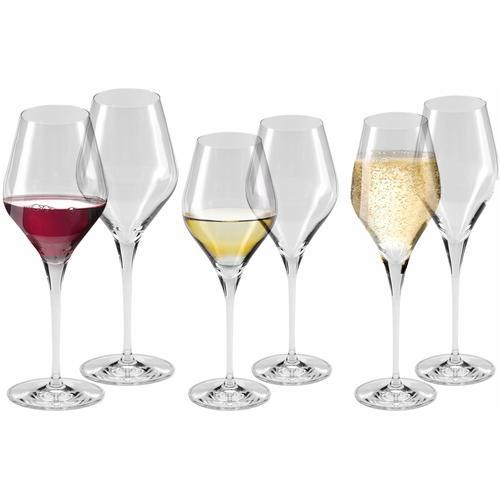 Alexander Herrmann Gläser-Set CLASSIC Linie, (Set, 18 tlg., 6 Rotweingläser-6 Weißweingläser-6 Sektgläser), 18-teilig farblos Kristallgläser Gläser Glaswaren Haushaltswaren