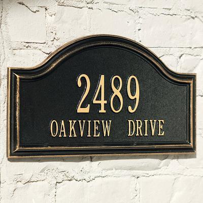 Oakview Address Plaque - Black, ...