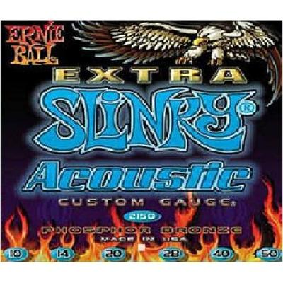 Ernie Ball 2150 Extra Slinky Phosphor Bronze Acoustic Guitar Strings