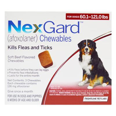 Nexgard For Dogs 25.1 - 50 Kg (Red) 3 Chews