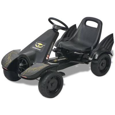 vidaXL Kart à pédale avec siège ajustable Noir