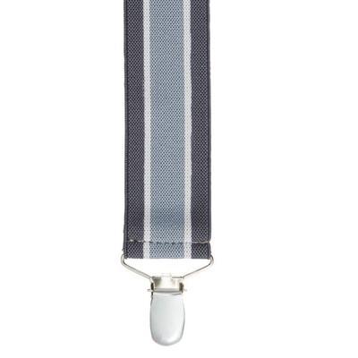 Haband Men's Dressy Suspenders, Grey Stripe, -