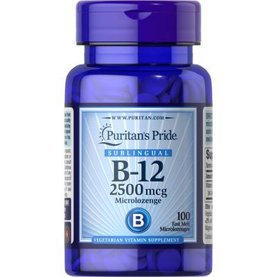 Puritan's Pride Vitamin B-12 2500 mcg Sublingual-100 Microlozenges