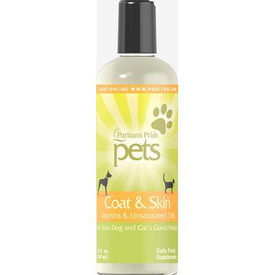 Puritan's Pride Pets Coat & Skin for Dogs & Cats-12 fl oz. Liquid