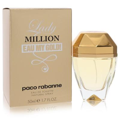 Lady Million Eau My Gold For Women By Paco Rabanne Eau De Toilette Spray 1.7 Oz