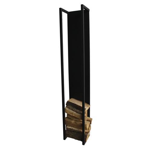 Spinder Kaminholz Aufbewahrung Cubic Fire Stahl Schwarz Struktur Höhe 167 cm
