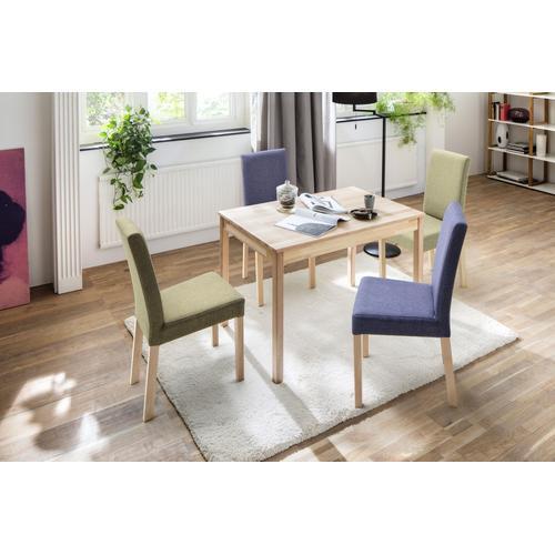 MCA living Esstisch Alfons, Massivholztisch in Wildeiche geölt, belastbar bis 50 kg braun Holz-Esstische Holztische Tische