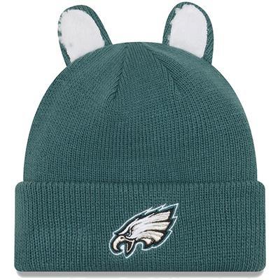 Toddler New Era Midnight Green Philadelphia Eagles Cozy Cutie Cuffed Knit Hat