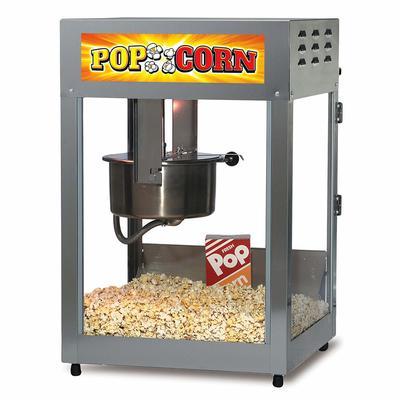 Gold Medal 2552-00-001 Popcorn Machine, 12/14 oz EZ Kleen Kettle, Stainless Cabinet, 120v