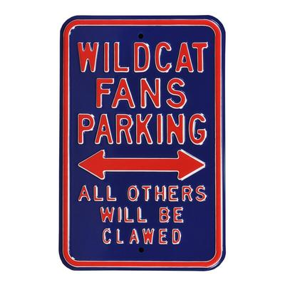 "Arizona Wildcats 12"" x 18"" College Parking Sign - Blue"