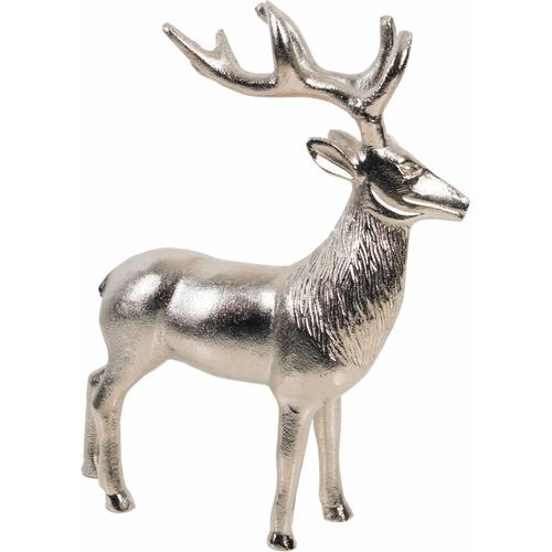ARTRA Tierfigur, Hirsch Rudolph silberfarben Tierfigur Tierfiguren Figuren Skulpturen Wohnaccessoires