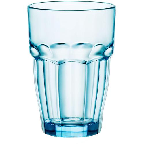 van Well Glas ROCK BAR LOUNGE, (Set, 6 tlg.) blau Wassergläser Saftgläser Gläser Glaswaren Haushaltswaren