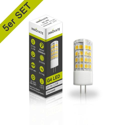 INNOVATE G4 LED-Leuchtmittel im 5er-Pack A+ weiß LED Leuchtmittel Lampen Leuchten EEK