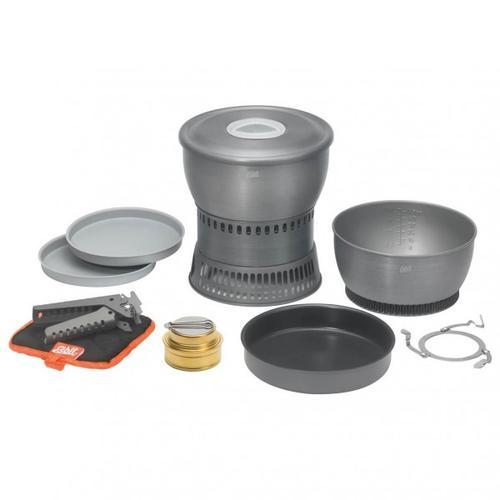 Esbit - Spiritus-Kochset CS2350 - Spirituskocher Gr 1,8 l / 2,35 l grau/schwarz