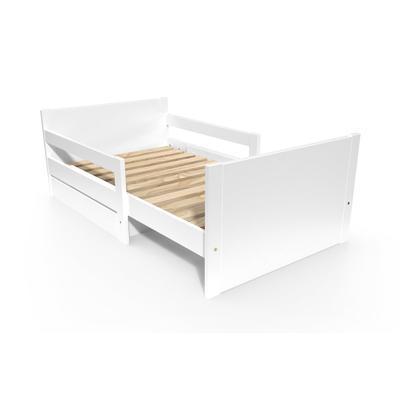 Lit évolutif enfant avec tiroir bois 90 x (140/170/200) Blanc