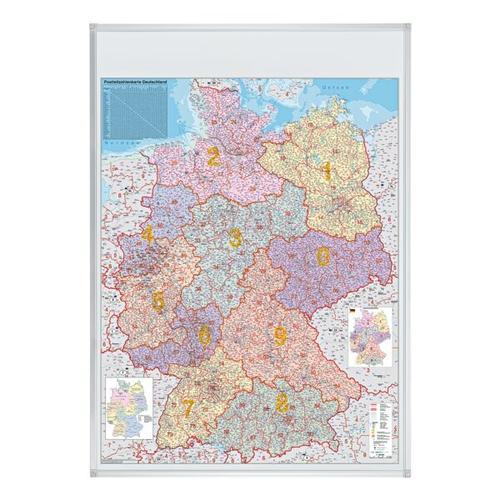 Postleitzahlenkarte »KA440M« grau, Franken