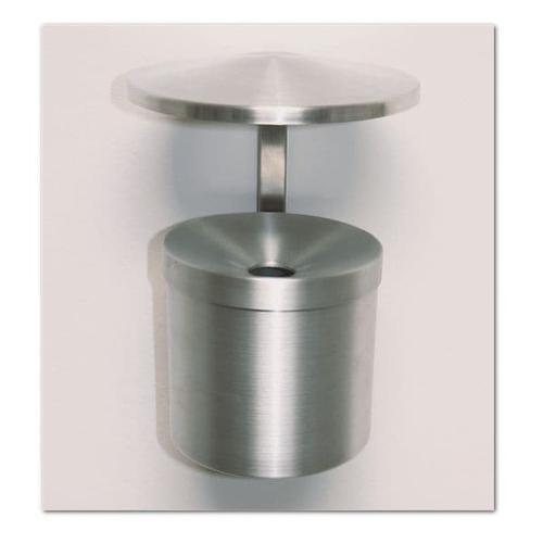 Wand-Aschenbecher grau, SZ Metall, 15 cm