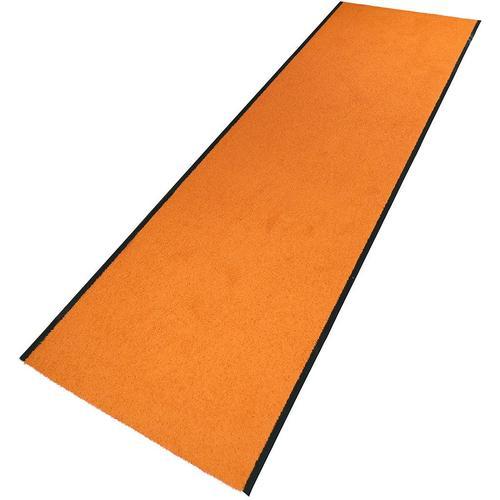 Living Line Läufer Conti, rechteckig, 6 mm Höhe, Schmutzfangläufer, Schmutzfangteppich, Schmutzmatte, Meterware, In- und Outdoor geeignet orange Teppichläufer Teppiche Diele Flur