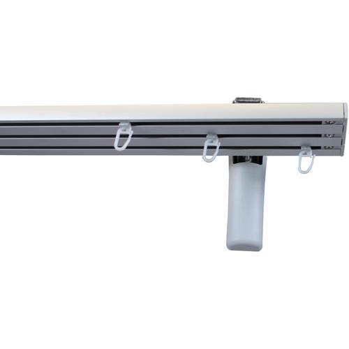 GARESA Gardinenschiene Flächenvorhangschiene 2 - 5 lauf, spezial, 3 läufig-läufig, Wunschmaßlänge grau Gardinenschienen Gardinen Vorhänge
