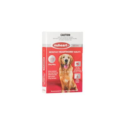 Nuheart Generic Heartgard For Large Dogs 51-100lbs (Red) 12 Tablet