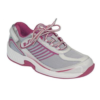 Doctor Recommended Heel Pain Relief Sneakers, Cushioning Sole, Women's Sneakers | OrthoFeet Comfortable Shoes, Verve, 5.5 / Medium / Fuchsia